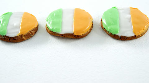 Irish flag cream topping cookies for st patricks Live Action