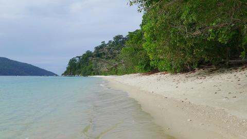 Deserted sandy beach on island in Thailand Footage