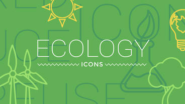 Ecology Concept Icons After Effects Projekt