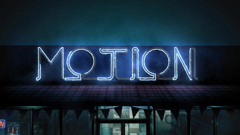 Epic Neon In The Night Street After Effects Template