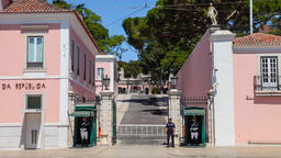 Lisbon Belem palace presidential president republic republican residence guard Footage