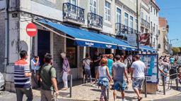pasteis de belem pasteis de Belem Lisbon bakery shop store cafe customers Footage