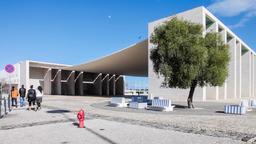 Pavilhao de Portugal Portugal Pavilion canopy Park Nations Parque das Nacoes Footage