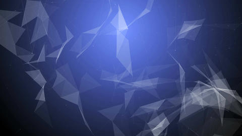 Abstract blue geometrical background with white lines and dots Animation