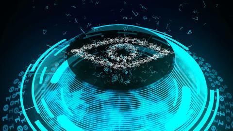 Eye Security concept Animation