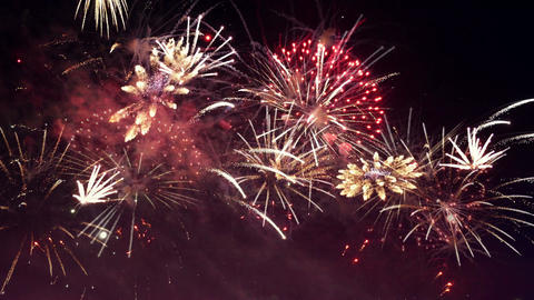 Video of fireworks in 4K Footage
