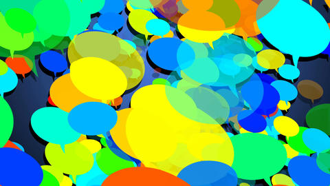 Colorful speech bubbles Animation