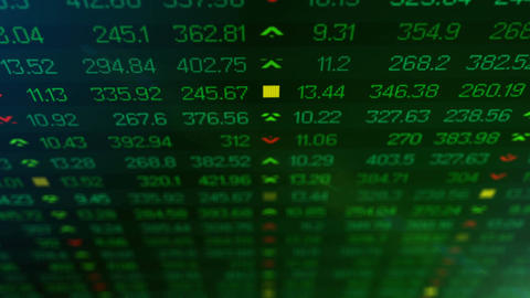 Animation of Stock market price ticker board Animation