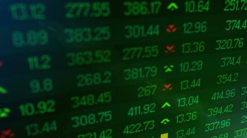 Animation of Stock market price ticker board Stock Video Footage