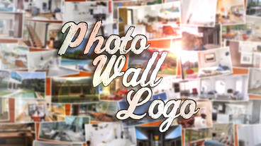 Photo Wall Logo - After Effects Template After Effectsテンプレート
