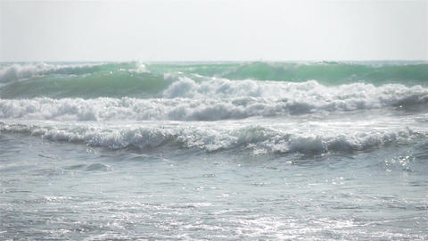Two videos of ocean waves in real slow motion Footage