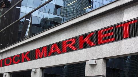 LED signboard stock market crash Acción en vivo
