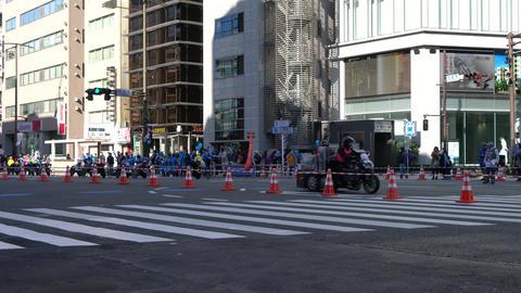 Tokyo, Japan-February 26, 2017:Marathon race in Tokyo Footage