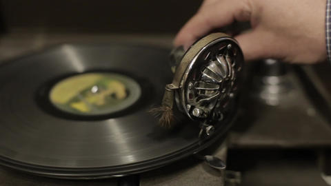 Gramophone in an antique shop Footage