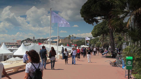 La Croisette in Cannes Footage