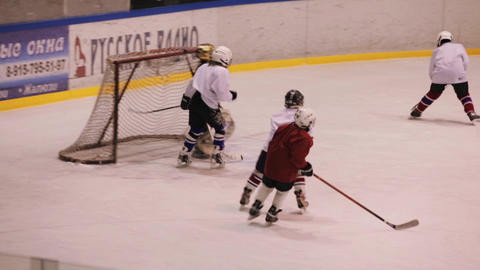Coaching children's hockey team Live Action