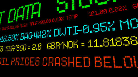 US oil prices crashed below 27 Footage