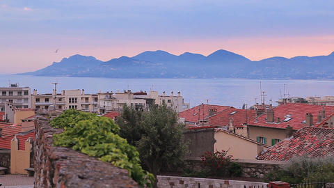 Cannes just before dawn Footage