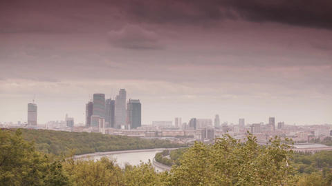 Moscow urban landscape Footage