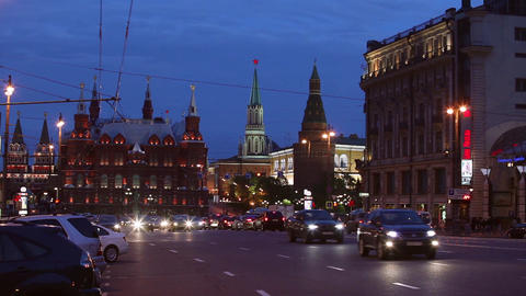 The Kremlin and the Red Square in the evening Archivo