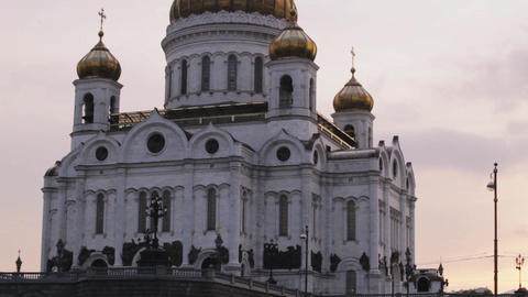Cathedral of Christ the Savior in Moscow Footage