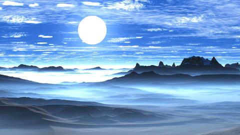 Sunrise Over Misty Hills Animation