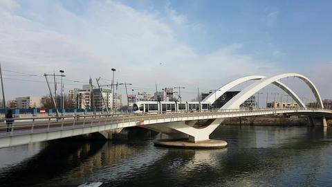 Tram On The Bridge Footage