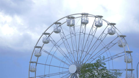 Time lapse video of ferris wheel in 4K Footage