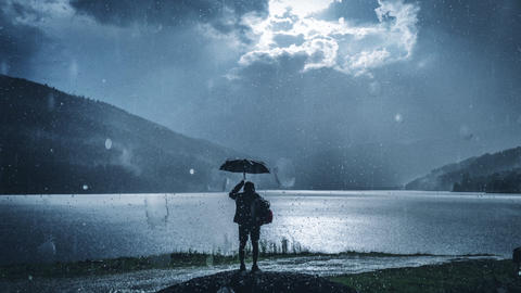 Realistic Rain Drops After Effects Template