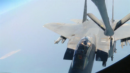 Persian Gulf Air Refueling Mission of F-15E Stike Eagles Footage