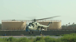 Afghan Air Force Mi-17 and Mi-35 helicopters Footage