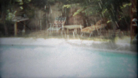 1963: Athletic man does full forward flip into residential pool. SAN DIEGO, CALI Footage