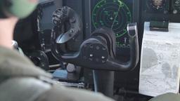 KC-130 Hercules Pilot Operations stock footage