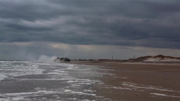 U.S. Navy landing craft, air cushion Landing at Onslow Beach Footage