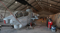 Routine maintenance on AH-1W Cobras and UH-1Y Venoms Footage