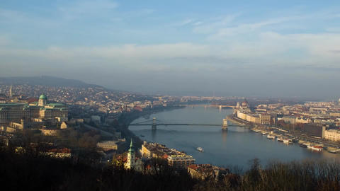 View of the River Danube in Budapest. Budapest at Sunset. the Sky Floating Cloud Footage