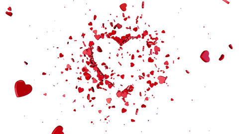 Love symbol. Valentine. 3D animation CG動画素材