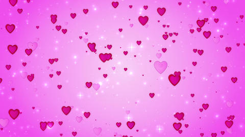 Romantic wedding pink background. The movement of red... Stock Video Footage