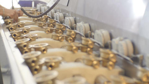 Worker Completes Products Assembling Process with Tool Footage