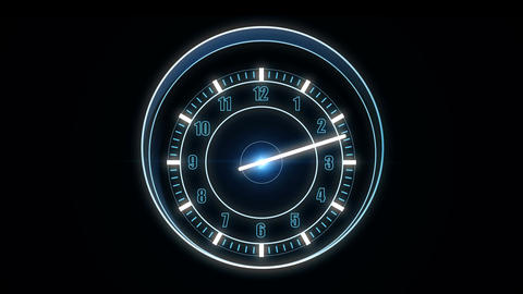 Futuristic high-tech watch HUD, Looping Animation