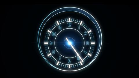 Futuristic high-tech watch HUD, Looping Stock Video Footage