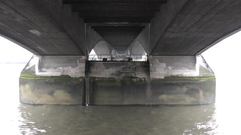 View of the lower part of the bridge Footage