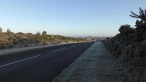 Road and frost in the south of England Live Action