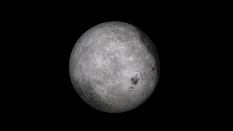 Moon HD with alpha channel and loopable Stock Video Footage