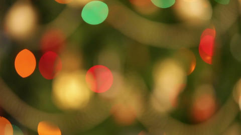 defocused christmas lights background Footage