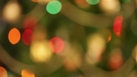 defocused christmas lights background Footage