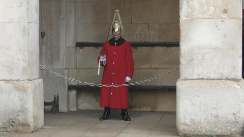 A soldier of the Royal Horse Guards Footage