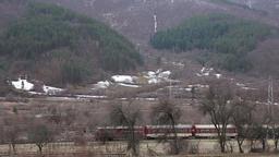 Narrow Gauge Into Mountain Footage