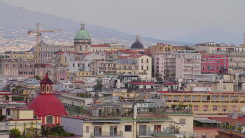 Historic architecture in Naples, Italy Footage
