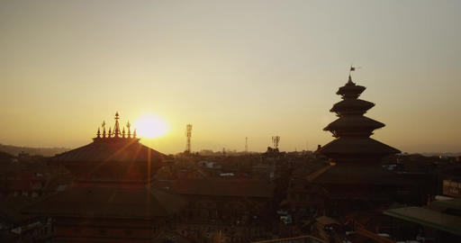 Time lapse of Bhaktapur, Nepal Footage